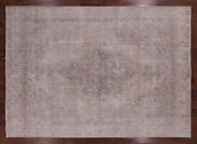 9and039 1 X 12and039 8 Vintage White Wash Handmade Wool Rug - Q2611