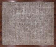 9and039 2 X 11and039 0 Handmade Vintage White Wash Wool Rug - Q2633