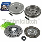 Valeo 3 Part Clutch Kit And Sachs Dmf For Vw Caddy Box 1.9 Tdi