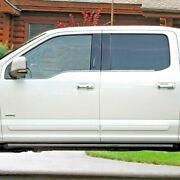 Painted - Body Side Moldings With Chrome Insert For F-150 Crew Cab 2015-2021
