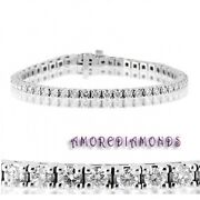 5.22 Ct H Color Natural Round Diamond Classic 4 Prong Tennis Bracelet White Gold