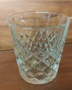 Drambuie Scotch Whisky Glass Embossed Diamond Clear