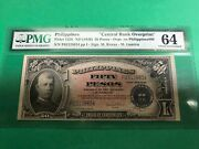 Philippines 1949 Nd Fifty Peso Cb-victory Ovpt. P-122b Pmg Choice Unc 64