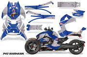 Full Body Wrap Graphic Decal For Can-am Ryker 2019 - Blue And Silver P40 Warhawk