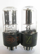 2 Matched 1956+/- Cbs/yy 12sn7gt Tubes - Tv7b Tested @ 101/97, 100/101