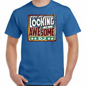 Dj T-shirt Youand039re Looking At An Awesome Mens Funny Decks Turntable Vinyl Records