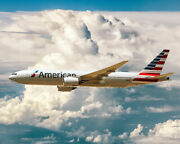 American Airlines Boeing 777-200er Airliner 11x14 Silver Halide Photo Print