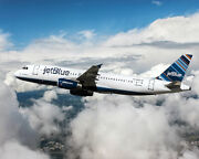 Jetblue Airbus A320 Jet Airliner 11x14 Silver Halide Photo Print