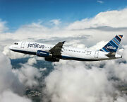 Jetblue Airbus A320 Jet Airliner 16x20 Silver Halide Photo Print
