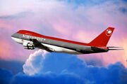 Northest Airlines Boeing 747-200 Airliner 12x18 Silver Halide Photo Print