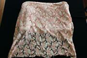 Rare Vintage French Deadstock 1930's Salmon Silk Lace Fabric 7 Yds L X 32 W