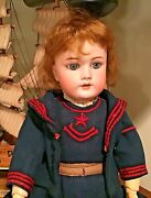 Absolutely Stunning Handwerck German Antique Doll 22 Inches Original Clothes