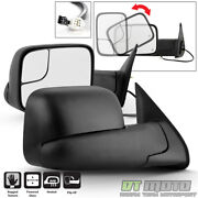 Left+right Flip Up Power Heated Tow Mirrors For 2005-2015 Toyota Tacoma Pickup