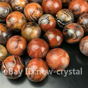 Natural Silk Madagascar Banded Agate Sphere Specimen Ball Collections Gift Bm52