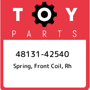 48131-42540 Toyota Spring Front Coil Rh 4813142540 New Genuine Oem Part