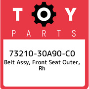 73210-30a90-c0 Toyota Belt Assy Front Seat Outer Rh 7321030a90c0 New Genuine