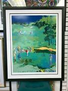 Leroy Neiman Golf Landscape Signed And Numbered Serigraph Limited Edition