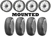 Kit 4 Maxxis Liberty Tires 28x10-14 On System 3 St-3 Machined Wheels Irs