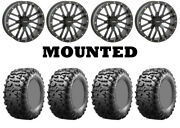 Kit 4 Maxxis Bighorn 3.0 Tires 29x9-14 On System 3 St-3 Matte Black Wheels H700