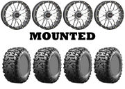 Kit 4 Maxxis Bighorn 3.0 Tires 29x9-14 On System 3 St-3 Machined Wheels H700