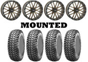 Kit 4 Maxxis Liberty Tires 28x10-14 On System 3 St-3 Bronze Wheels Irs