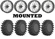 Kit 4 Sti Outback Max Tires 30x10-14 On System 3 St-3 Machined Wheels Vik