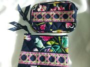Vera Bradley Ribbons Retired Pattern Id Card Holder Case Wallet And Purse