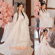 Hanfu Womenand039s Dress Tops Skirt Coat Tang Dynasty Ancient White Dance Cosplay