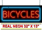 Bicycles Neon Sign | Jantec | 32 X 13 | Exercise Ride Shop Repair Hike Outdoor
