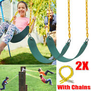 Heavy Duty Hanging Swing Seat Set W/replacement Chains Play Outdoor Kids 2 Pack