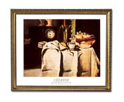 Seashell Victorian Clock Contemporary Wall Picture Gold Framed Art Print