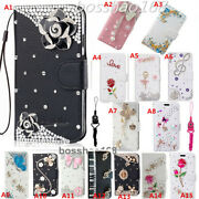 For Lg Stylo 5/ 5v/5x 5 Plus Bling Diamond Leather Slots Stand Wallet Case Cover