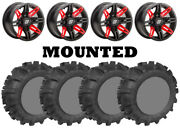 Kit 4 Legacy 589 M/s Tires 30x10-14 On Sedona Rukus Red 12mm Wheels Can