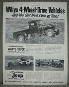 1951 Willys Jeep Ideal For Farm And Ranch Use - 4 Wheel Drive Is Ideal - Ad Print