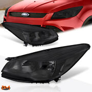 For 13-16 Ford Escape Suv Headlight/lamp Replacement Smoked Lens Clear Corner