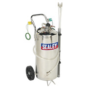 Air Operated Fuel Drainer 40ltr Stainless Steel   Sealey Tp200s By Sealey   New