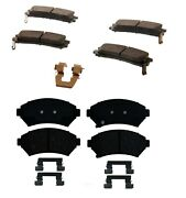 Front And Rear Brake Pad Set Kit Acdelco For Buick Lesabre 2000-2005 W/ 15 Wheels