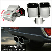 Universal 2.5 63mm Bent Inlet Cars Tail Rear Exhaust Pipe Tip Muffler Cover