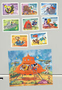 Sierra Leone 601-609 Disney Space 8v And 1v S/s Imperf Proofs