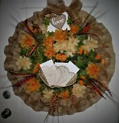 Love And Letters Wreath,with Basket For Mail, 24 Round.