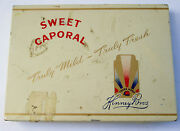 Vintage 1950and039s Sweet Caporal 50 Tobacco Tin Kinney Bros