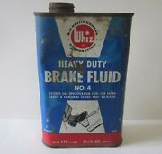 Vintage Scarce 1940's Whiz Brake Fluid 1 Pt Oil Can Pedal To The Metal Graphic