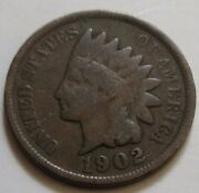 1902 United States Indian Head Small Cent Coin. Nice Grade Rj299