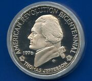 1976 Usa Bicentennial Thomas Jefferson Commemorative Coin Medal With Paper