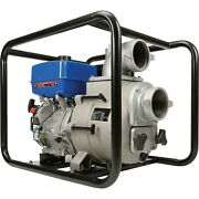 Portable Water Trash Pump - 4 In And Out - 1.5 Solids - 458 Gpm - 14 Hp - Gas
