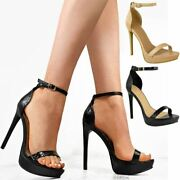 Womens Ladies High Heels Stilettos Platforms Strappy Party Clubbing Shoes Sexy