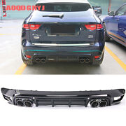 For Jaguar F-pace 2016-19 Rear Bumper Lipand4 Exhaust Tail Pipes Cover Upgrade Kit