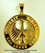 German Eagle Pendant 14 Kt Gold Germany World Cup Soccer Champions