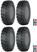 Four 4 Itp Versa Cross Atv Tires Set 2 Front 30x10-14 And 2 Rear 30x10-14