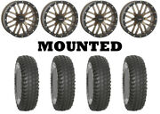 Kit 4 System 3 Xcr350 Tires 28x10-14 On System 3 St-3 Bronze Wheels Ter